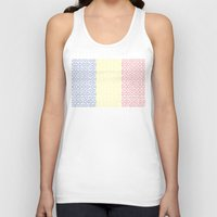 chad wys Tank Tops featuring digital Flag (Chad) by seb mcnulty