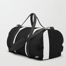 BLACK AND WHITE STRIPES #black #white #stripes #minimal #art #design #kirovair #buyart #decor #home Duffle Bag