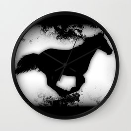Western-look Galloping Horse Silhouette Wall Clock