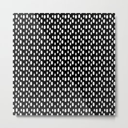 Black pattern with white spots Metal Print
