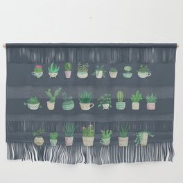 Tiny garden blue Wall Hanging