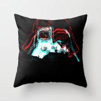 darth Throw Pillows featuring DARTH by JACK TUB