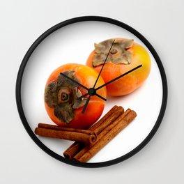 Persimmon Cinnamon Wall Clock