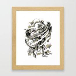 Dragon Phoenix Tattoo Art Print Framed Art Print