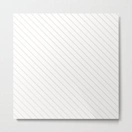 Bridal Blush Stripe Metal Print