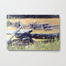 Split Rail Fence Metal Print