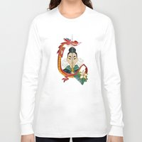 mulan Long Sleeve T-shirts featuring Mulan Tattoo by Kathryn Hudson Illustrations