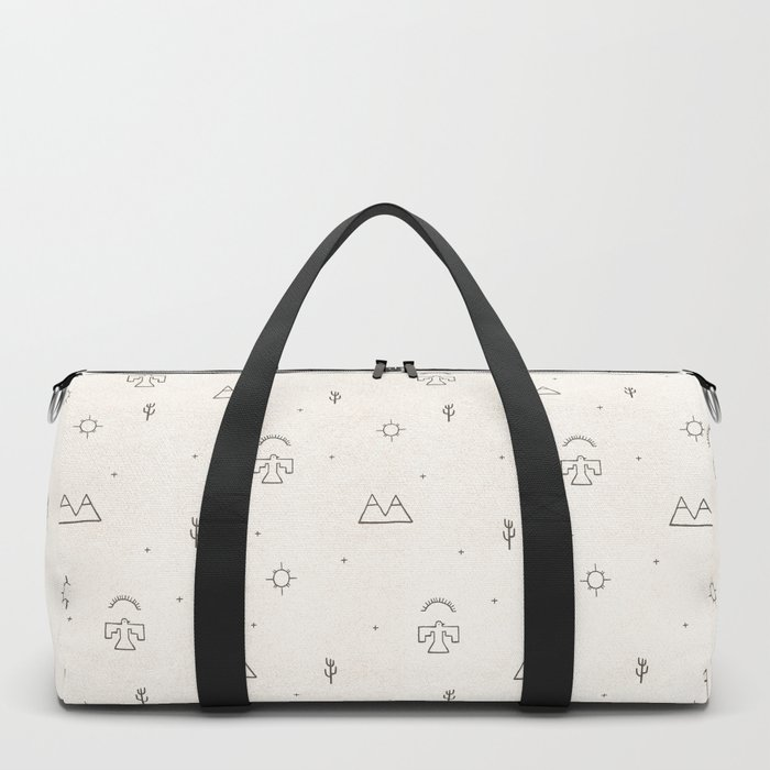 Death Valley in Ivory and Clay Duffle Bag