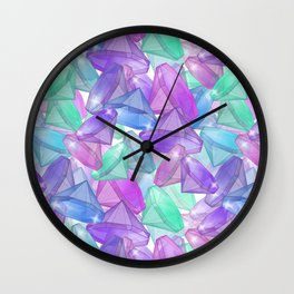 Placer precious stones . White background . Wall Clock
