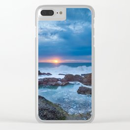 Sunset Escape Clear iPhone Case