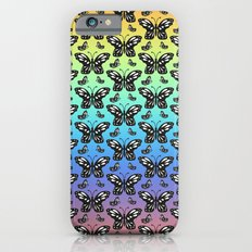 Butterfly pattern in color iPhone 6s Slim Case
