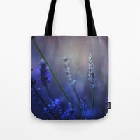 lavender Tote Bags featuring Lavender by Nikita Gill