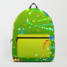 Ribbon and Star Christmas Tree Backpack