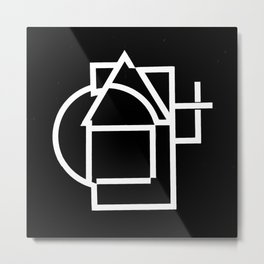 Astract house negative Metal Print