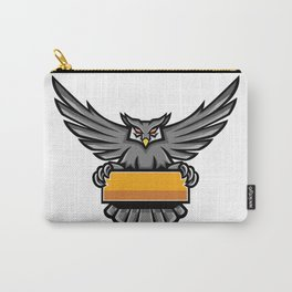 Owl Holding Banner Mascot Carry-All Pouch