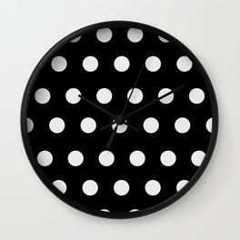 Polka Dot Pattern Wall Clock