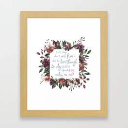 The Hate U Give Angie Thomas Quote Framed Art Print