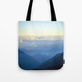 Clouds at eye level  Tote Bag