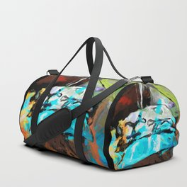 Turquoise Pillows Orange Green Red Duffle Bag