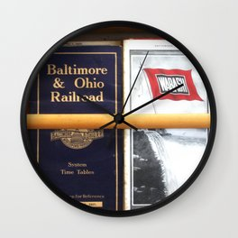 Original Early 1900s American Train Time Tables (RARE) Wall Clock