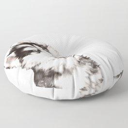 Baby Husky Floor Pillow