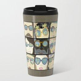 Glasses Horizontal Travel Mug
