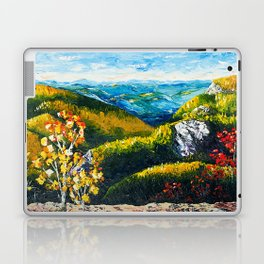 Landscape painting - Autumn dreams - by LiliFlore Laptop & iPad Skin