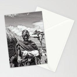 4279 Maasai Tribesman Warrior Ngorongoro Tanzania Africa Stationery Cards
