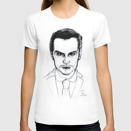 Andrew Scott as Jim Moriarty from Sherlock Etching T-shirt