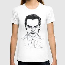Andrew Scott as Jim Moriarty from Sherlock Etching T-shirt