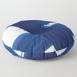 Indigo Abstract Brush Strokes | No. 4 Floor Pillow
