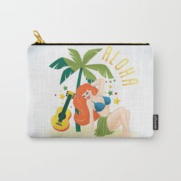 Aloha From Sunny Hawaii Wish You Were Here Carry-All Pouch