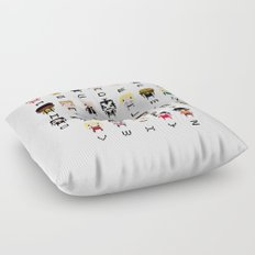 Rock Music Alphabet Floor Pillow