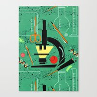 biology Canvas Prints featuring BIOLOGY by cecimonster