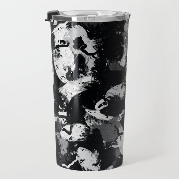 Shades of Gray and Black Oils #1979 Travel Mug