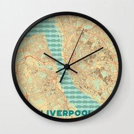 Liverpool Map Retro Wall Clock