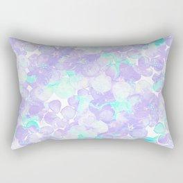 Lavender teal watercolor Hortensia flowers pattern Rectangular Pillow