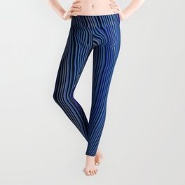 curve ribbon pattern blue Leggings
