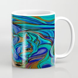 Wild Horses In Brown and Teal Coffee Mug