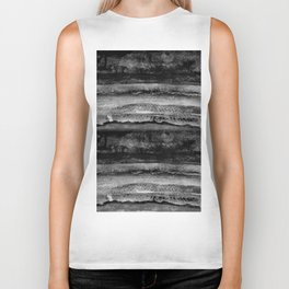layers in grayscale Biker Tank