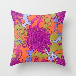 Japan chrysanthemum flower Throw Pillow