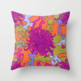 Japan chrysanthemum flower Throw Pillow