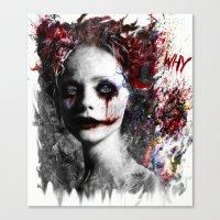 harley quinn Canvas Prints featuring Harley Quinn by ururuty