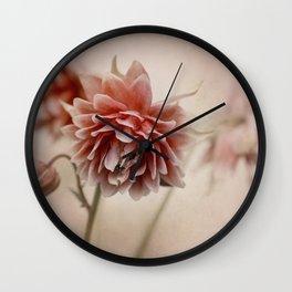 Dark red columbine flowers Wall Clock