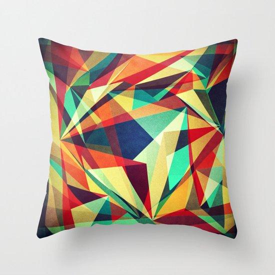 Broken Rainbow Throw Pillow