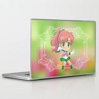 sailor jupiter Laptop & iPad Skins featuring Sailor Jupiter by Neo Crystal Tokyo