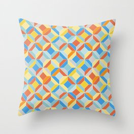 colorful geometric diamonds Throw Pillow