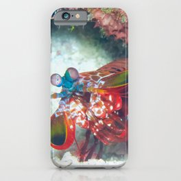 Mantis Shrimp peeking out iPhone Case