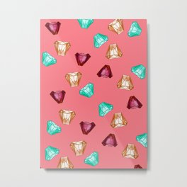 Bubblegum Diamonds Metal Print