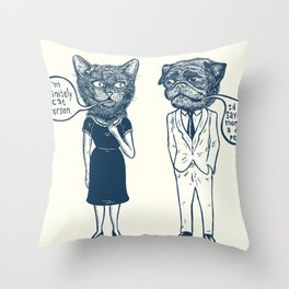 Types Of People Throw Pillow